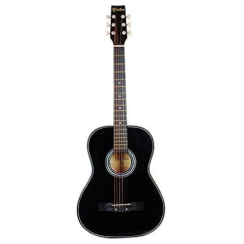 Hapilife 3/4 Guitare folk (Noir) pour les débutants, les enfants et les jeunes ,différent modèle avec choix de couleur