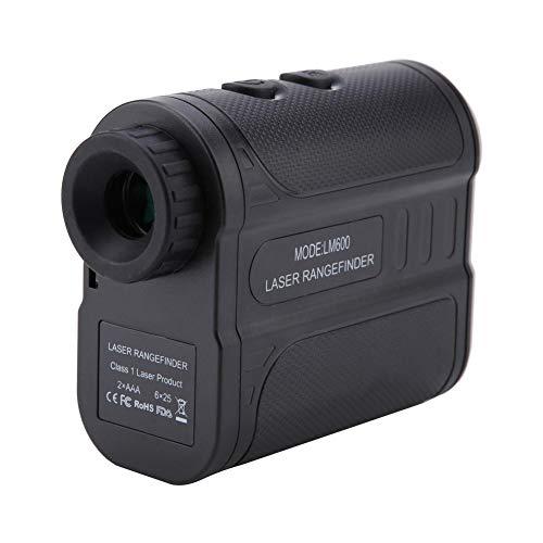 Laser Entfernungsmesser, Akozon LM600 6X Wasserdichtes Golf Teleskop Entfernungsmesser Höhe Geschwindigkeitsmesser für Feature-Bergsteigen/Camping/Golfplatz/Strom/Bauvermessung(Schwarz)