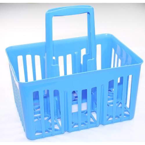 Stefanplast Cestello Portabottiglie 6 Posizioni Riciclabile 30x21xh. 28 Cm Blu