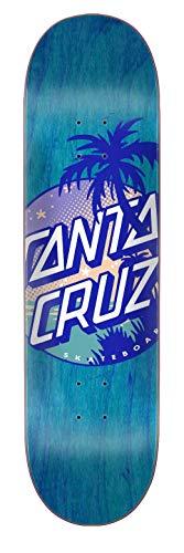 Santa Cruz Blau Palm Dot Hard Rock Maple - 8.25 Inch Skateboard-Deck (One Size, Blau) Palm Dot