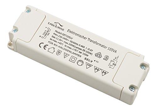 Preisvergleich Produktbild conecto X-HT010 by Eaglerise Halogentransformator (elektronischer Trafo für Halogen-Beleuchtungen) 12V/35-105Watt, 220-240V, 50Hz