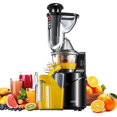 Extracteur de Jus, Aicok Slow Juicer Presse à Froid de Fruits et Légumes avec 75 MM de Large...