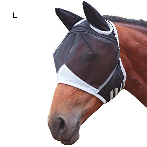 Kylewo Maschera per zanzare per Cavalli Maschera per Cavalli Traspirante con Mascherina per Le Orecchie Contro i Cavalli di zanzara Maschera per