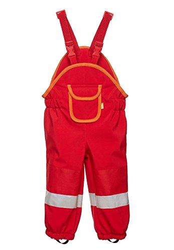 *Softshell-Matschhose PREMIUM für Kleinkinder von be baby! leicht gefüttert, (Wassersäule: 10.000 mm), rot, Gr. 116-122*