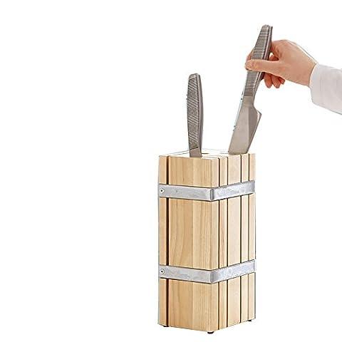 siehin Bloc à couteaux universel–SUPPORT DE RANGEMENT POUR Couteaux de cuisine en bois