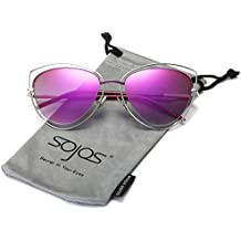 Chat Oeil Double Câbler Double Bordé UV400 Lunettes de soleil yeux de Sojos femmes de SJ1047
