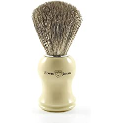 Edwin Jagger Pure Badger - Brocha de afeitar, color blanco