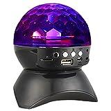 immagine prodotto Asamoom Altoparlante Bluetooth, Spaeker Stereo Portatile 4.0 + Microfono Incorporato, Luce LED, Audio Alta Fedeltà - Nero