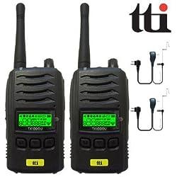 TTi TX-1000U Impermeable IP67 Submergible PMR 446 Radio De Dos Vías Transceptores Doble + 2 Comtech CM-50PT Auriculares