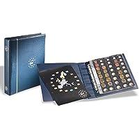 Leuchtturm 336883 Álbum de monedas de euro en formato OPTIMA, azul