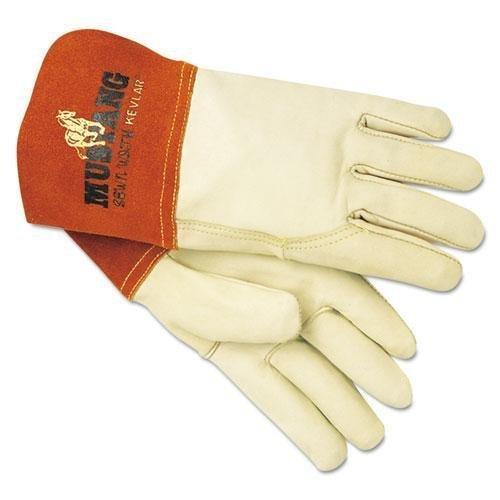 Memphis Mustang Mig/Tig Welder Gloves, Tan, Medium, 12 Pairs by Memphis Memphis Mustang