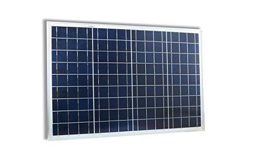 Pannello solare fotovoltaico celle silicio 50 w watt 12v batteria