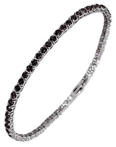 Tennis Armband für Herren mit schwarzen Edelkristallen. Luca Barra BR0110