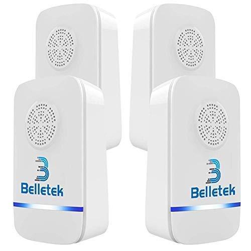 Belletek Repellente ad Ultrasuoni, Repellente Contro Parassiti, Repellente Elettronico per Zanzara, Scarafaggi,...