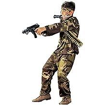 Iden - Disfraz de soldado del ejército militar para niño, talla 8 - 10 años (S/38407)