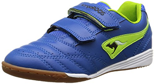 KangaROOS Power Court, Unisex-Kinder Hallenschuhe, Blau (royal blue/lime 484), 35 EU