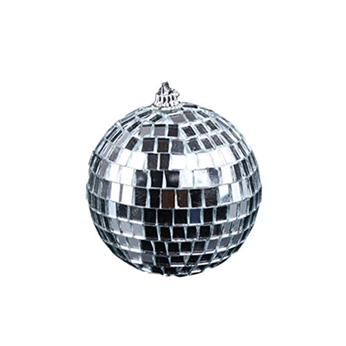 egel Disco Ball Spaß 10 cm Hängende Party Disco Ball - Partydekorationen Party Design Tanz und Musik Festivals (Silber) ()