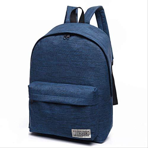 fhdc Rucksäcke Leinwand Männer Frauen Rucksack Studenten High Middle School Taschen Für Teenager Jungen Mädchen Laptop ReiserucksäckeBlau -