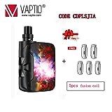Vaptio Kit sigaretta elettronica Fusion SP vape originale con batteria integrata da 1500mAh 2ml Atomizzatore potenza di uscita ecig 50w No E Liquido No Nicotina (Nebulosa)