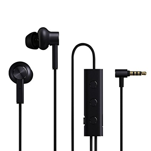 Laurelmartina Auriculares con cancelación de Ruido Xiaomi Active Auriculares híbridos con micrófono Mi ANC (Color: Negro)