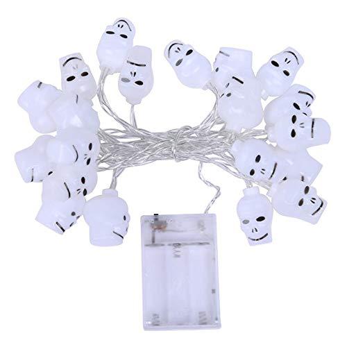 20LED 3D Schädel Geist Halloween Dekoration Lichter Outdoor Indoor Lighting String Lampe Für Halloween Weihnachten Maskerade Karneval Motto Party Decor, Batteriebetrieben
