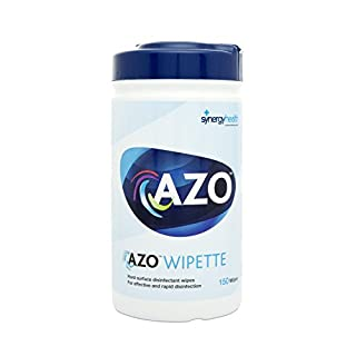 Azo Wipette Rapid Disinfection Hard Surface Wipes - 13x18cm (1 Canister of 150)
