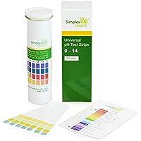 Simplex Salud agua TIRAS REACTIVAS DE PH 0-14 AMPLIA GAMA & CUATRO Panel Universal para Ácido Alcalino Prueba ( 150 TiRAS ) - mejor que Tornasol Papel