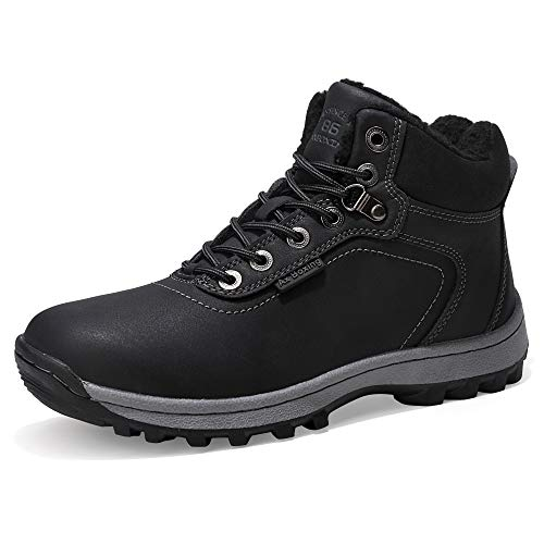 AX BOXING Winterstiefel Herren Damen Schneestiefel Wasserdicht Warm Gefüttert Winterschuhe Stiefelette Outdoor Boots Arbeitsschuhe Schneestiefel Arbeitsstiefel Wandern Size 36-49 (42 EU, A7445-2)