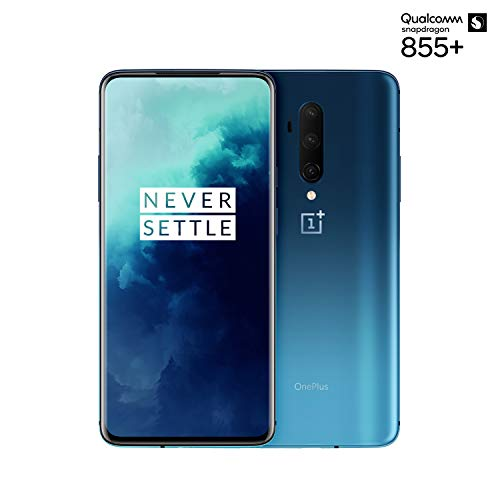 OnePlus 7T Pro Smartphone Haze Blue | 6.67'/16,9 cm AMOLED Display 90Hz Screen | 8 GB RAM + 256 GB Storage | Triple Camera + Pop-Up Camera | Warp Charge 30