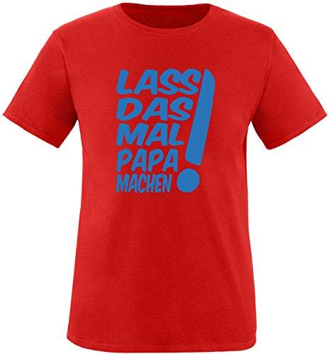 EZYshirt® Lass das mal den Papa machen Herren Rundhals T-Shirt Rot/Blau