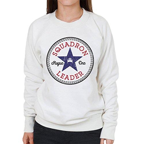Star Wars Rogue One Squadron Leader Converse Logo Women's Sweatshirt white