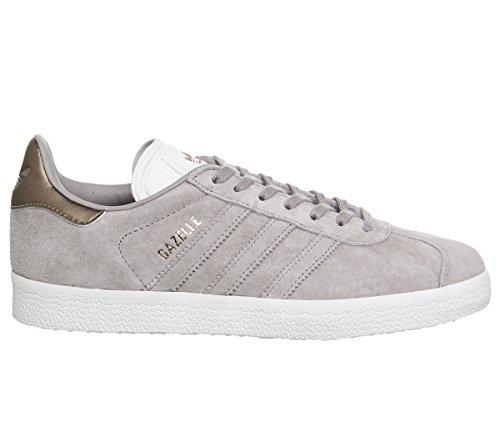 adidas Unisex Erwachsene Gazelle Sneakers, knöchelfrei Sneakers, Grau - Vapour Grey Off White Copper Exclusive - Größe: 42 EU