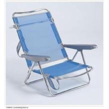 alco silla cama playa aluminio fibreline color azul turquesa 30 1 607az