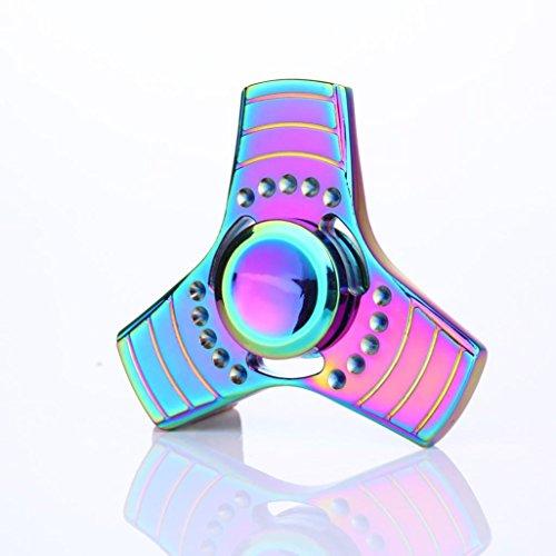 Preisvergleich Produktbild Fidget Hand Spinner Dreieck Einzelfinger Dekompression Gyro Hand Spinner Fingerspitze Spinner Gyro Adult Kinder Spielzeug Stress Reduzierstück (Mehrfarbig 5)
