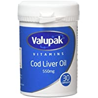 Valupak High Strength Cod Liver Oil Capsules 550mg 30...