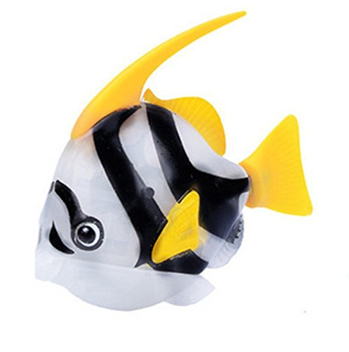 Mamum Fisch elektrischen Blitz Schwimmen, Schwimmen Roboterfische aktiv magisches elektronisches Spielzeug Wasser Kinderspielzeug-Geschenk one size weiß (Wasser-appliance)