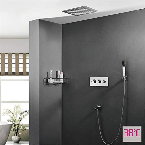 MICHEN Sistema de Ducha, Ducha empotrada, función termostática Doble, Ducha con Dosel,...