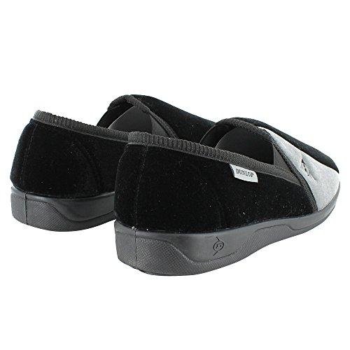 Dunlop , Herren Hausschuhe Black / Grey