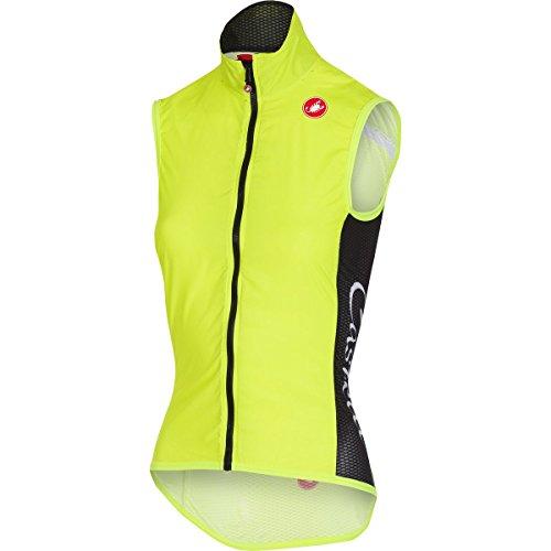 Castelli Radfahren Weste (Castelli Damen Radsportweste Pro Light W Wind Vest gelb (510) L)