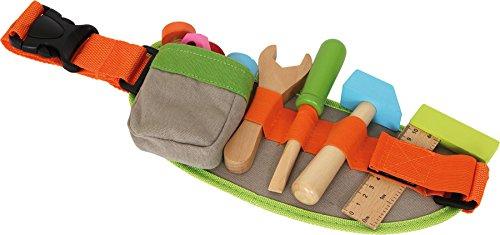 small foot 4745 Verstellbarer Werkzeug-Gürtel inkl. buntem Spielwerkzeug und -zubehör aus Holz, ab 3 - Rollenspiel Kostüm Für Jungs