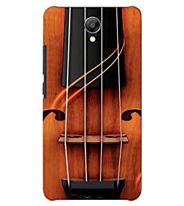 PrintVisa Violin Music Design 3D Hard Polycarbonate Designer Back Case Cover for Xiaomi Redmi Note 2