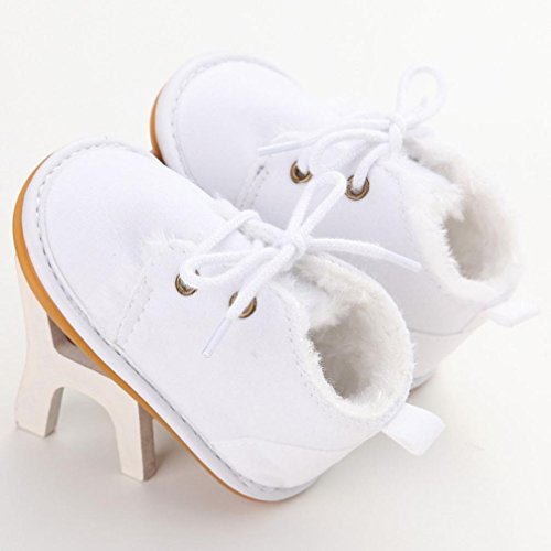 Ouneed® 0-18 mois Bebe Casual Chaussures Lacet Souple Smell (11, Rose) Blanc