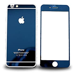 AcenX Extra Mirror Bright Plated Film Premium Tempered Protective Mirror Effect Glass Film Screen Protector for iPhone 6 Screen Protector Skin(Blue)