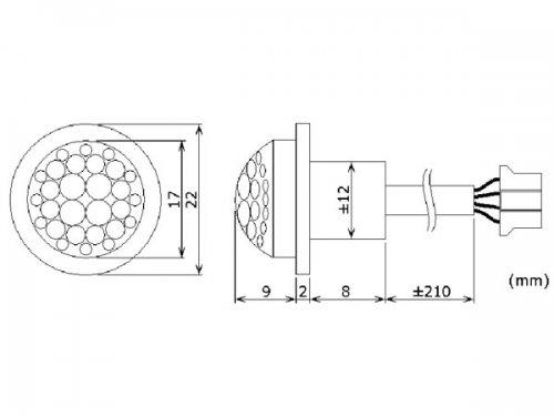 Mini PIR Bewegungsmelder 230V zum Einbau max Schaltleistung 800 Watt - 2
