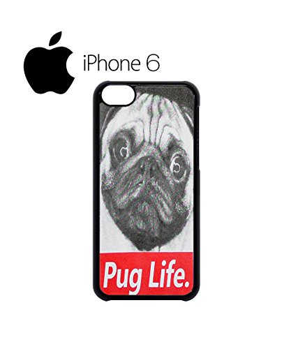 Pug Life Dog Doggie Animal Swag Mobile Phone Case Back Cover Hülle Weiß Schwarz for iPhone 6 White Schwarz