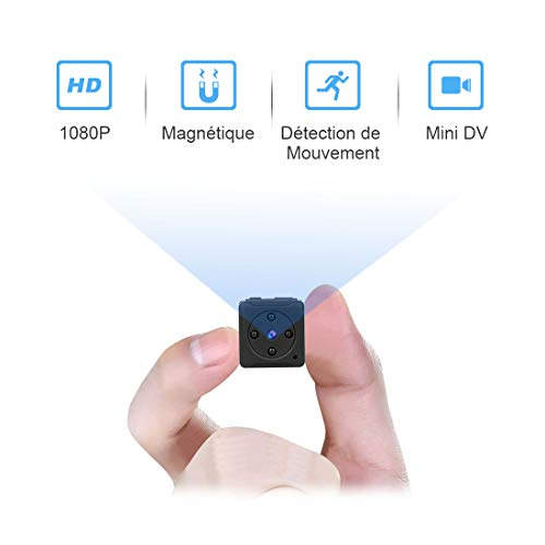 Mini Camera Espion Enregistreur,MHDYT Full HD 1080P Magnetic Spy Cam sans Fil Nanny Caméra...