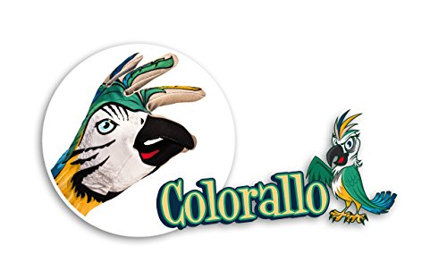 COLORALLO- Handschuh-Spiel Gedruckte Papagei - Es rutscht zwischen den Pflanzen mit seiner grellen Farbe,hält den Kopf hoch,weil es das Schönste des Waldes (Kopf Kostüm Haifisch)
