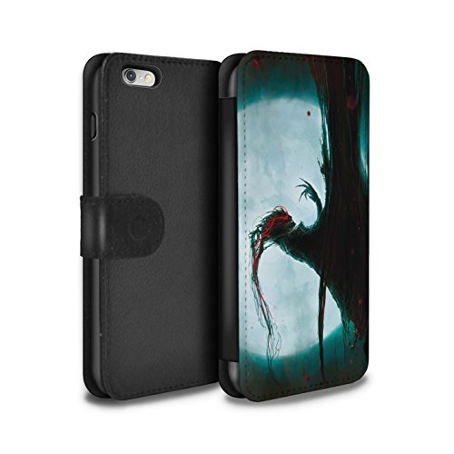 Offiziell Chris Cold PU-Leder Hülle/Case/Tasche/Cover für Apple iPhone 6+/Plus 5.5 / Pack 6pcs Muster / Dämonisches Tier Kollektion Dramargu/Vollmond