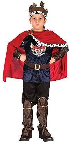 Jungen 7 Stück Mittelalterlich King Warrior Büchertag Kostüm Kleid Outfit 4-12 jahre - 10-12 (King Kostüm Warrior)