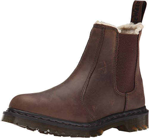 Dr. Martens LEONORE Burn. Wyoming Damen Chelsea Boots Braun (Dk. Brown)